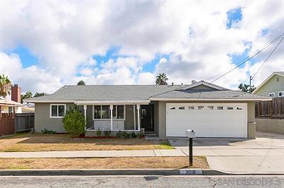 Oceanside Single Family Home For Sale: 3919 Celeste Dr