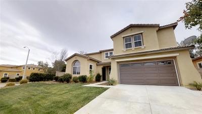 Murrieta Single Family Home For Sale: 37968 Palomera Ln