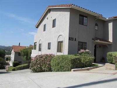 Escondido Townhouse For Sale: 820 E 3rd Ave #4