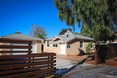 Chula Vista Single Family Home For Sale: 137 Emerson St