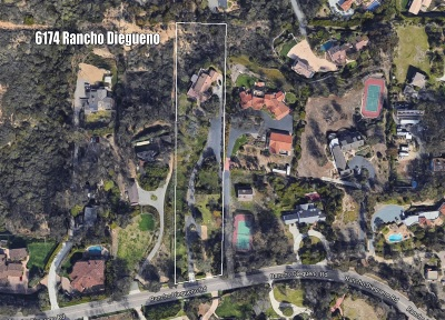 Rancho Santa Fe Single Family Home For Sale: 6174 Rancho Diegueno Road