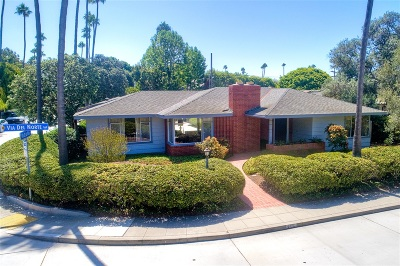 La Jolla Single Family Home For Sale: 355 Via Del Norte
