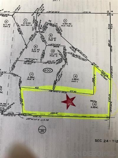 San Marcos Residential Lots & Land For Sale: Camino De La Cima #16