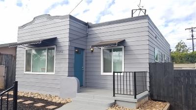 Single Family Home For Sale: 4096 Menlo Ave
