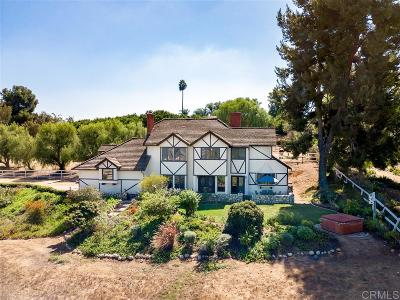 Fallbrook Single Family Home For Sale: 2607 Alta Vista