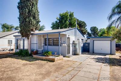 San Diego Single Family Home For Sale: 205 Richardson