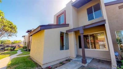 Chula Vista Townhouse For Sale: 1575 Mendocino #187