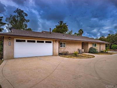 Fallbrook Single Family Home For Sale: 1521 Ranchwood Ln