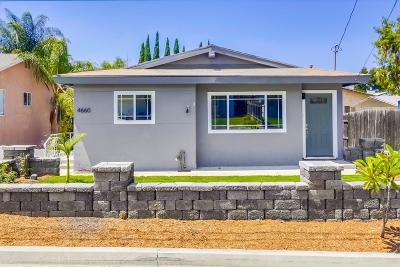 La Mesa Single Family Home For Sale: 4660 68th St