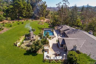 Rancho Santa Fe Single Family Home For Sale: 16450 Via A La Casa