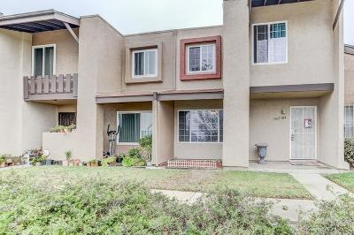 Chula Vista Townhouse For Sale: 1565 Mendocino Dr #184