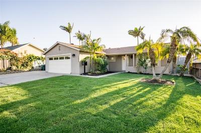 Chula Vista Single Family Home For Sale: 1272 Raven