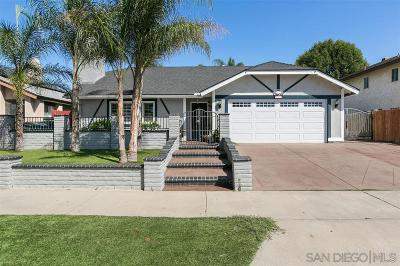 Escondido Single Family Home For Sale: 812 Oleander Pl