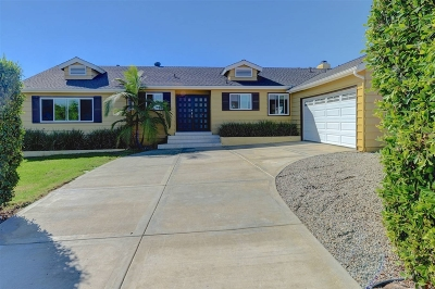 Pacific Beach Single Family Home For Sale: 5134 Soledad Road