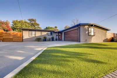 La Mesa Single Family Home For Sale: 5735 Tex Street