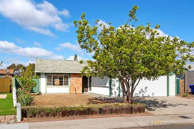 San Diego Single Family Home For Sale: 7255 Enders Avenue
