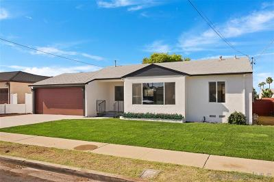 Chula Vista Single Family Home For Sale: 734 Glover Ave