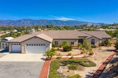 Valley Center Single Family Home For Sale: 15856 Fruitvale Rd
