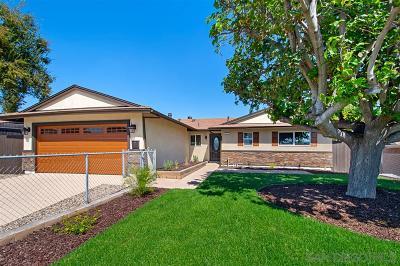 Santee Single Family Home For Sale: 9462 Lake Canyon Rd
