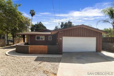 La Mesa Single Family Home For Sale: 9015 Lemon Ave