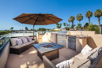 Pacific Beach, Mission Beach Single Family Home For Sale: 1419 Opal St