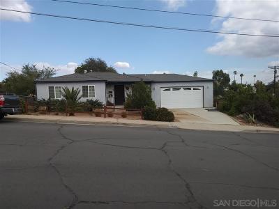 La Mesa Single Family Home For Sale: 6255 Dixie