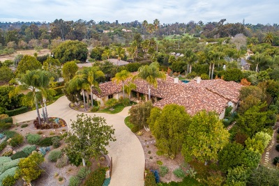 Rancho Santa Fe Single Family Home For Sale: 6320 El Sicomoro