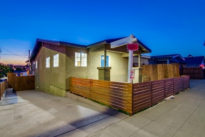 San Diego Single Family Home For Sale: 3804 39th Street