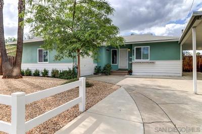 La Mesa Single Family Home For Sale: 5900 Odessa Ave