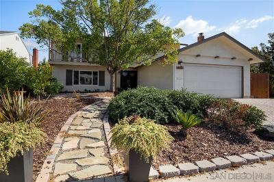 San Diego Single Family Home For Sale: 8759 Verlane Dr