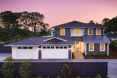Encinitas CA Single Family Home For Sale: $3,550,000