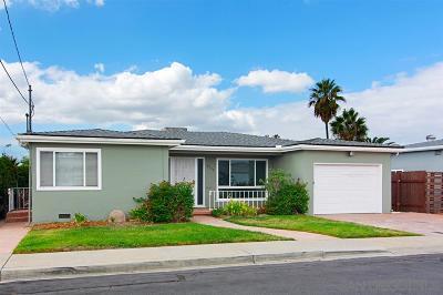 San Diego Single Family Home For Sale: 4736 Austin Drive