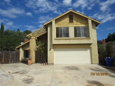 San Diego Single Family Home For Sale: 5396 Sunglow Ct