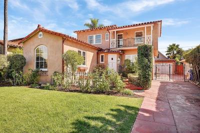 San Diego Single Family Home For Sale: 4555 El Cerrito Dr