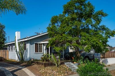 San Diego Single Family Home For Sale: Nile Street