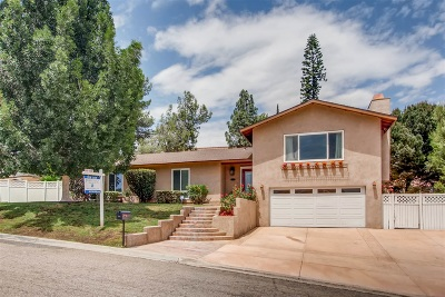 La Mesa Single Family Home Contingent: 10120 Cliffwood