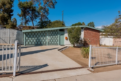 San Diego County Single Family Home For Sale: 63 E Donahoe Street