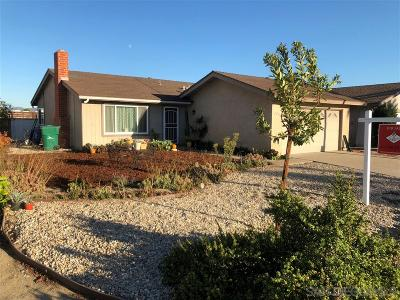San Diego County Single Family Home For Sale: 764 Sugar Pine Street