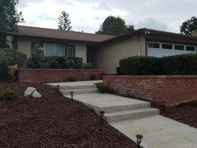 San Diego County Single Family Home For Sale: 4636 Mystik Rd