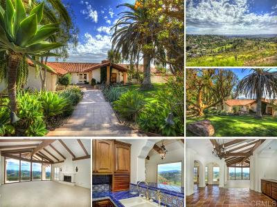 Rancho Santa Fe Single Family Home For Sale: 16580 Las Cuestas