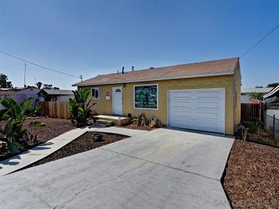 San Diego County Single Family Home For Sale: 834 Selma Place