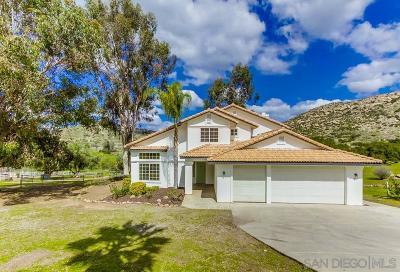 Ramona CA Single Family Home For Sale: $575,000