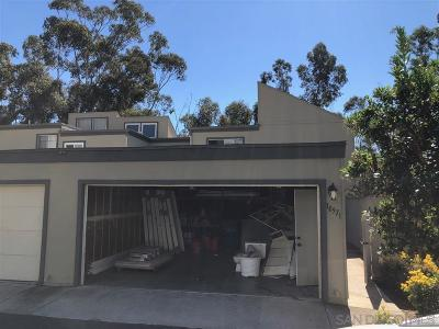 San Diego Townhouse Sold: 10571 Caminito Basswood