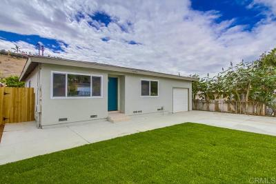 San Diego Single Family Home For Sale: 7777 Jamacha Rd