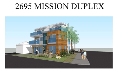 San Diego Multi Family 2-4 For Sale: 2695 Mission Blvd