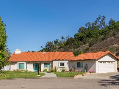 Fallbrook Single Family Home For Sale: 3726 Oakview Court