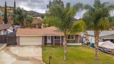 Santee Single Family Home For Sale: 9126 Heatherdale St
