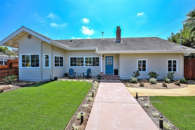 Encinitas Single Family Home For Sale: 1675 Noma Lane