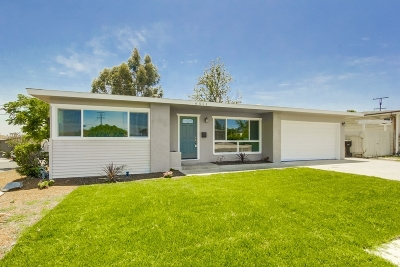San Diego County Single Family Home For Sale: 6551 Estelle St