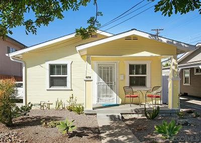 North Park, University Heights Single Family Home For Sale: 4194 Texas Street